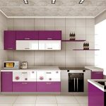 KINLO 5*0.61M Stickers Frigo Auto-Adhésif Violet pour Armoire de Cuisine en PVC Imperméable Style Moderne Stickers Autocollant Muraux Étanche Décoration pour Chambre Salon Meuble de la marque KINLO image 2 produit