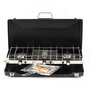 KinshopS pliable Réchaud à gaz camping Cuisine Appareil de cuisson Folding réchaud 4,5 kW, gaz plaque de cuisson avec plaque de grill barbecue cuisson Gratiner de la marque KinshopS image 0 produit