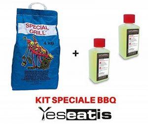 Kit Barbecue - 2 x 200ml Allume-feu Gel original Lotusgrill + 2 x 2Kg naturel Charbon de Bois de la marque YesEatIs image 0 produit