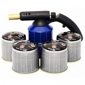 Kit lampe a souder PG 400 M coque acier piezo + 4 cartouches. Bouteille gaz 190g avec sécurité stop gaz. de la marque Providus image 0 produit