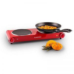 Klarstein Captain Cook² Plaque de cuisson en céramique et acier inoxydable Rouge 20cm 1200W de la marque Klarstein image 0 produit