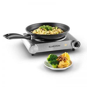 Klarstein Captain Cook - Plaque de cuisson simple céramique (1200W, chauffe rapide, jusqu'à 500°c) - argent de la marque Klarstein image 0 produit