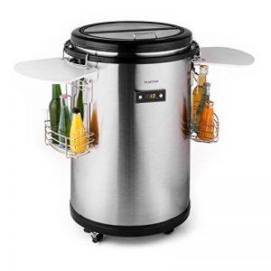 Klarstein Mr. Barbot Glacière boissons mini bar (50 L, roulettes compact, paniers à boissons, acier inoxydable, affichage de la température, classe énergétique A+) de la marque Klarstein image 0 produit