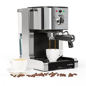 Klarstein Passionata Rossa 20 • machine à expresso • machine à café • puissance de 1350 W • 1,25 litre de volume (6 tasses) • décharge de pression auto • buse à vapeur incluse • argent de la marque Klarstein image 0 produit