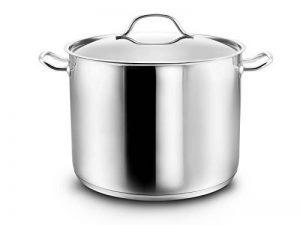 Kopf Gigantos - Grand pot en inox avec couvercle, Ø 26 cm, hauteur de 19 cm, 10 litres convient à induction de la marque Kopf image 0 produit