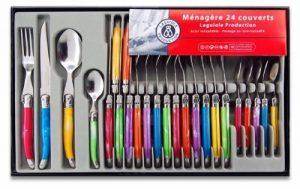 Laguiole Production 438580 Ménagère 24 Pièces Acier Inox Multicolore de la marque Laguiole Production image 0 produit