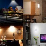 Lampe Automatique, Techole Lampe Détecteur de Mouvement Portable, Veilleuse 12 LED USB Rechargeable avec Bandes Magnétiques Adhésives, 3 Modes(Auto/on/off), Lumière Chaude pour Armoire/Couloir/Escalier/Camping/Lecture de la marque Techole image 4 produit