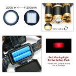 Lampe Frontale Puissante avec 5 LED de 8000 lumens, SGODDE Lampe Torche LED Zoomable et Étanche avec 2 x 18650 8800mAh Batterie Rechargeable de Protection contre Surcharge. de la marque SGODDE image 4 produit