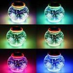 Lampe Solaire 3D Veilleuse,SUAVER Verre Boule Lampe RGB Solaire Lanterne Lampe de Table Jardin Déco Atmosphère Éclairage Chambre Bébé Enfant Salon Chevet Balcon Intérieur Extérieur (Feux d'artifice) de la marque SUAVER image 1 produit