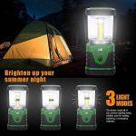 LE Lanterne de camping LED 9W 500lm, 3 Modes d'Eclairage, 6000-7000K Blanc du jour, IPX4 Résistante à l'Eau, ultra lumineuse, lumière d'urgence, Idéale pour les activités extérieures de la marque Lighting EVER image 1 produit