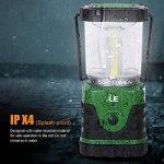 LE Lanterne de camping LED 9W 500lm, 3 Modes d'Eclairage, 6000-7000K Blanc du jour, IPX4 Résistante à l'Eau, ultra lumineuse, lumière d'urgence, Idéale pour les activités extérieures de la marque Lighting EVER image 2 produit