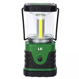 LE Lanterne de camping LED 9W 500lm, 3 Modes d'Eclairage, 6000-7000K Blanc du jour, IPX4 Résistante à l'Eau, ultra lumineuse, lumière d'urgence, Idéale pour les activités extérieures de la marque Lighting EVER image 0 produit