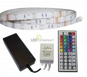 LED Universum Bande à LED RVB avec contrôleur, télécommande 44 touches et bloc d'alimentation Protection IP65 3,5m 30 LED/m de la marque LED Universum image 0 produit