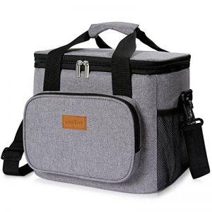 Lifewit 15L (24 Canette) Sac Isotherme Lunch Bag, Sac-Glacière Cooler Bag Sac de Repas pour Déjeuner/Travail/Ecole/Plage/Pique-nique, Gris de la marque Lifewit image 0 produit