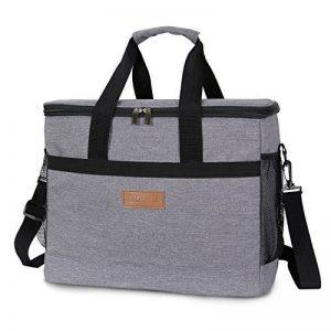 Lifewit 30L ( 50 Canette ) Sac-Glacière,Cooler Bag Sac Isotherme Portable Pour Déjeuner Plage Pique-Nique Camping BBQ, Gris de la marque Lifewit image 0 produit