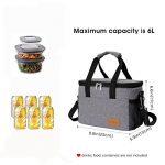 Lifewit Sac Isotherme Lunch Bag Lunch Box, Sac de Repas pour Hommes Femmes Enfants, Sac à Déjeuner 6L, Gris de la marque Lifewit image 1 produit