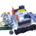 Limitless équipement Mark 1 kit de survie: format de poche, Niveau de contenu PRO. emballé avec plus de 40 articles - led d'urgence, équipement de pêche, Matériel de coupe et de feu, TACTI-GLOW paracord, boussole , scie, premiers secours et bien plus enco image 1 produit