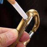 Lingan Lock Boucle léger Portable USB Briquet batterie sans flamme coupe-vent briquets électroniques Mousqueton en aluminium en forme de D Vis Antivol Boucle Snap Clip Sac à dos à suspendre Porte-clés Crochet Cadenas de la marque LINGAN image 2 produit