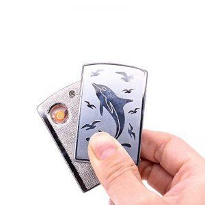 Lingan USB briquets classique batterie coupe-vent sans flamme Cigarette électronique Bobine léger sans gaz briquets USB de chargement avec câble de chargement USB... de la marque LINGAN image 0 produit