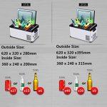 LIQICAI Glacière Électrique Portable Mini Réfrigérateur Réfrigération Grande capacité un camion voiture maison 3 scènes disponibles, La température de refroidissement peut être réduite à -25 ° C ( taille : 17.3L ) de la marque LIQICAI-BINTONG image 4 produit