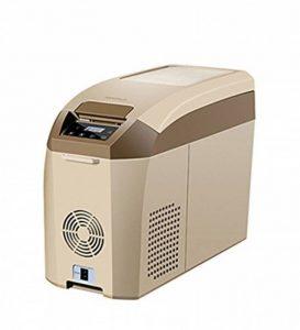 LIQICAI Glacière Électrique Portable Voiture Mini Réfrigérateur Réfrigération/12V DC (voiture)/24V DC (Camion)/220V AC (maison), La température de refroidissement peut être réduite à -18 ° C ( Couleur : Marron , taille : 17L ) de la marque LIQICAI-BINTONG image 0 produit