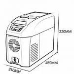 LIQICAI Glacière Électrique Portable Voiture Mini Réfrigérateur Réfrigération/12V DC (voiture)/24V DC (Camion)/220V AC (maison), La température de refroidissement peut être réduite à -18 ° C ( Couleur : Gris , taille : 10L ) de la marque LIQICAI-BINTONG image 1 produit