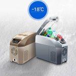 LIQICAI Glacière Électrique Portable Voiture Mini Réfrigérateur Réfrigération/12V DC (voiture)/24V DC (Camion)/220V AC (maison), La température de refroidissement peut être réduite à -18 ° C ( Couleur : Gris , taille : 10L ) de la marque LIQICAI-BINTONG image 3 produit