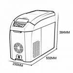 LIQICAI Glacière Électrique Portable Voiture Mini Réfrigérateur Réfrigération/12V DC (voiture)/24V DC (Camion)/220V AC (maison), La température de refroidissement peut être réduite à -18 ° C ( Couleur : Marron , taille : 17L ) de la marque LIQICAI-BINTONG image 1 produit