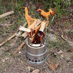 Lixada Portable légère Poêle à bois /Poêle alcool solidifié en acier inoxydable Cuisine de plein air de pique-nique barbecue Camping de la marque Lixada image 1 produit