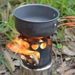 Lixada Portable réchaud camping en acier inoxydable léger Poêle à bois Cuisine pour la randonnée , le pique-nique , le camping de la marque Lixada image 1 produit
