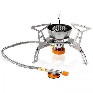 Lixada Réchaud de Camping à gaz pliable anti-vent Flamme Puissante Cuisine de plein air portable de Split Burner 3000W /3200W de la marque Lixada image 0 produit