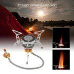 Lixada Réchaud de Camping à gaz pliable anti-vent Flamme Puissante Cuisine de plein air portable de Split Burner 3000W /3200W de la marque Lixada image 1 produit