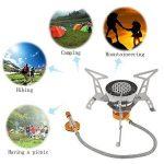 Lixada Réchaud de Camping à gaz pliable anti-vent Flamme Puissante Cuisine de plein air portable de Split Burner 3000W /3200W de la marque Lixada image 3 produit