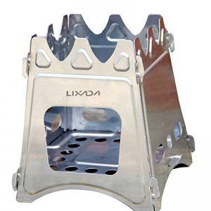 Lixada Réchaud Poêle à Bois Compact Pliant pour le Camping en Plein Air la Cuisson de Pique-nique de la marque Lixada image 0 produit