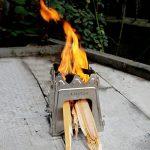 Lixada Réchaud Poêle à Bois Compact Pliant pour le Camping en Plein Air la Cuisson de Pique-nique de la marque Lixada image 2 produit