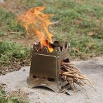 Lixada Réchaud Poêle à Bois Compact Pliant pour le Camping en Plein Air la Cuisson de Pique-nique de la marque Lixada image 3 produit
