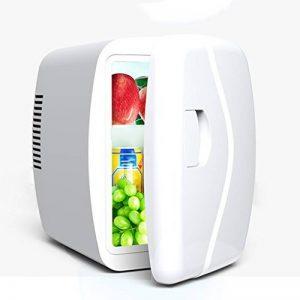 LJ Refroidisseur et réchauffeur de mini réfrigérateur silencieux 4L, utilisation de voiture et à la maison ( Couleur : Blanc ) de la marque Réfrigérateur voiture image 0 produit