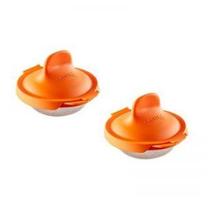 Lékué 3402900N07U009 Lot de 2 Ustensiles pour Cuisson d'œuf poché Acier Inoxydable/Silicone Orange 9,3 x 11 x 7,5 cm de la marque Lékué image 0 produit