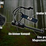 Lone Wolf Gear Allume-feu de Survie pour Porte-clés avec Sifflet et Boussole - Rouge de la marque LONE WOLF GEAR image 2 produit
