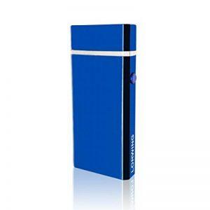 Lorwing Briquet Électrique Rechargeable USB Sans Flamme Coupe-Vent Double Arc Électronique Allume-Cigare pour Cigare Pipe Cigarettes Pique-Nique et Camping (Bleu) de la marque Lorwing image 0 produit