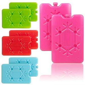 Lot de 2blocs de voyage réutilisable Congélateur Glace–Choix de Couleurs 2 x Blue Cool It Freezer Packs de la marque EG Homeware image 0 produit