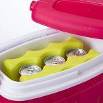 Lot de 2 pains de glace, bloc réfrigérant pour canettes vert de la marque Wedestock image 2 produit