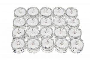 Lot de 20 lumières/bougies chauffe-plats LED submersibles étanches Blanc de la marque BlueSnail image 0 produit