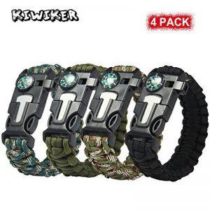 Lot de 4bracelets Paracord - Kits de bracelet de survie Kiwiker de la marque Kiwiker image 0 produit