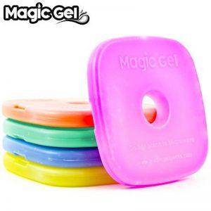 Magic Gel 5 x packs de glace pour boîte de déjeuner et glacières - Petits mais durables - Idéal pour les gamelles d'enfants, les pique-niques, le camping et encore plus (Mise à jour de 2018) de la marque Magic Gel image 0 produit