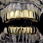 MagiDeal 2X Dent Teeth Grills 18k Plaqué Or Amovible Hip Hop Haut Et Bas Bijoux de Dent de la marque MagiDeal image 1 produit