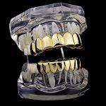 MagiDeal 2X Dent Teeth Grills 18k Plaqué Or Amovible Hip Hop Haut Et Bas Bijoux de Dent de la marque MagiDeal image 4 produit