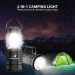 MalloMe 2-IN-1 LED Camping lanterne et lampe de poche avec 12 piles AA - Gear Kit de survie pour l'urgence, ouragan, tempête, panne (noir, pliable), lot de 4 de la marque MalloMe image 2 produit