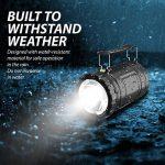 MalloMe 2-IN-1 LED Camping lanterne et lampe de poche avec 12 piles AA - Gear Kit de survie pour l'urgence, ouragan, tempête, panne (noir, pliable), lot de 4 de la marque MalloMe image 3 produit