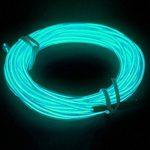 MASUNN 5M 10 Couleurs 3V Flexible Néon El Fil Light Dance Party Decor Lumière-Violet de la marque MASUNN image 5 produit